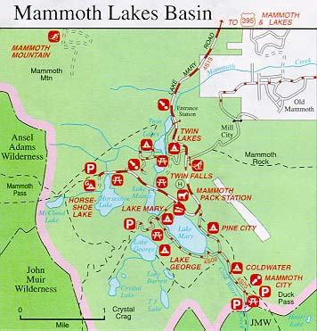 Mammoth Lakes California Home Buying Resources Mammoth Realty - Lakes in california map