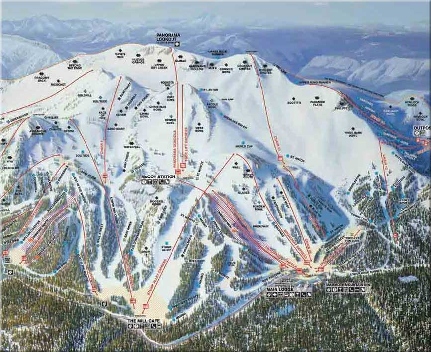 "Click the map to see a larger size. Mammoth Mountain is ""Mammoth"""