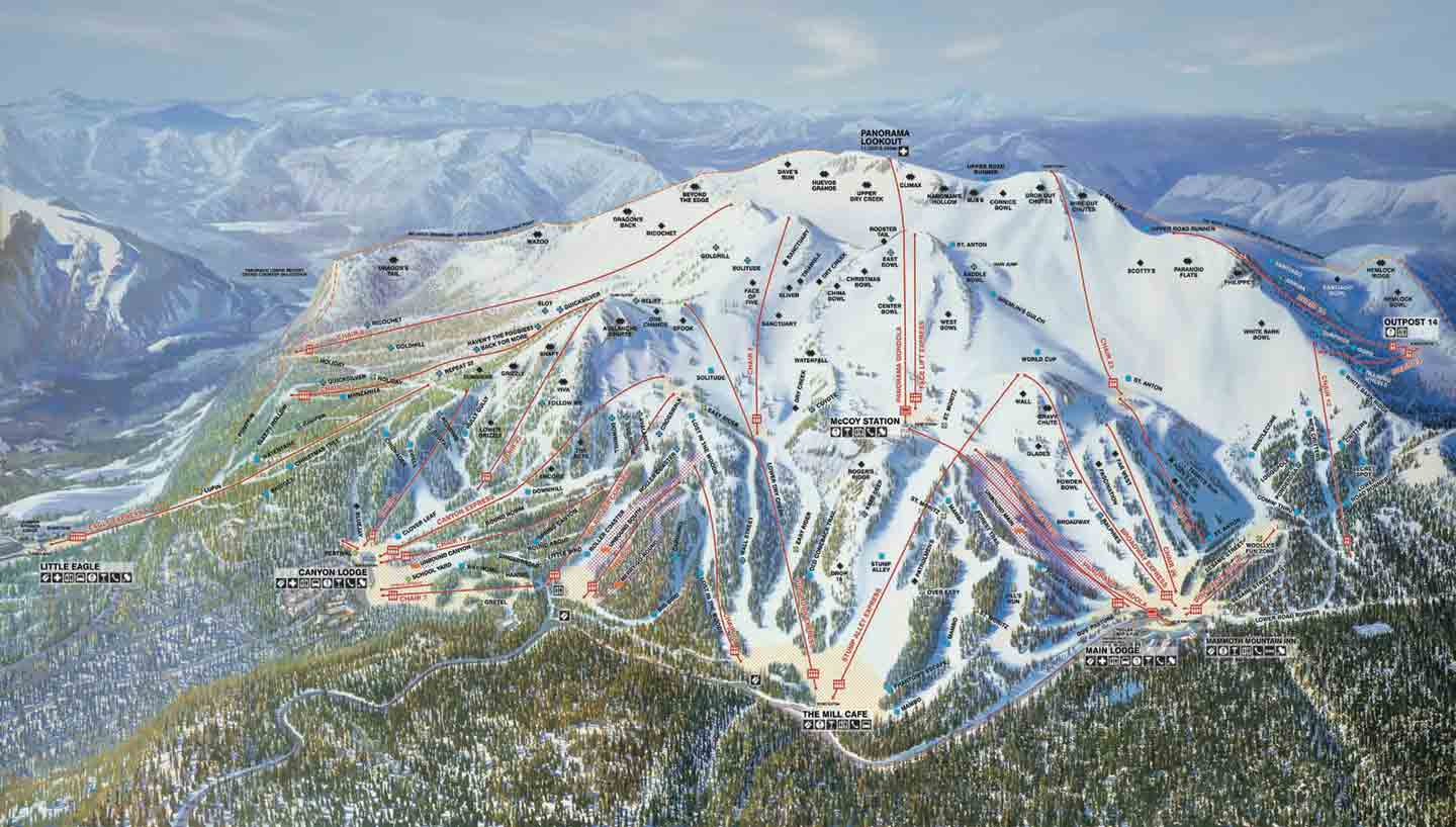 mammoth mountain ski trail map. mammoth mountain trail maps mammoth ski trail maps mammoth maps