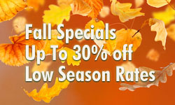 Fall Specials on Lodging 30% Off