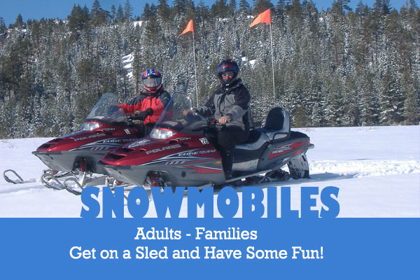 Save on Snowmobile Rentals in Mammoth