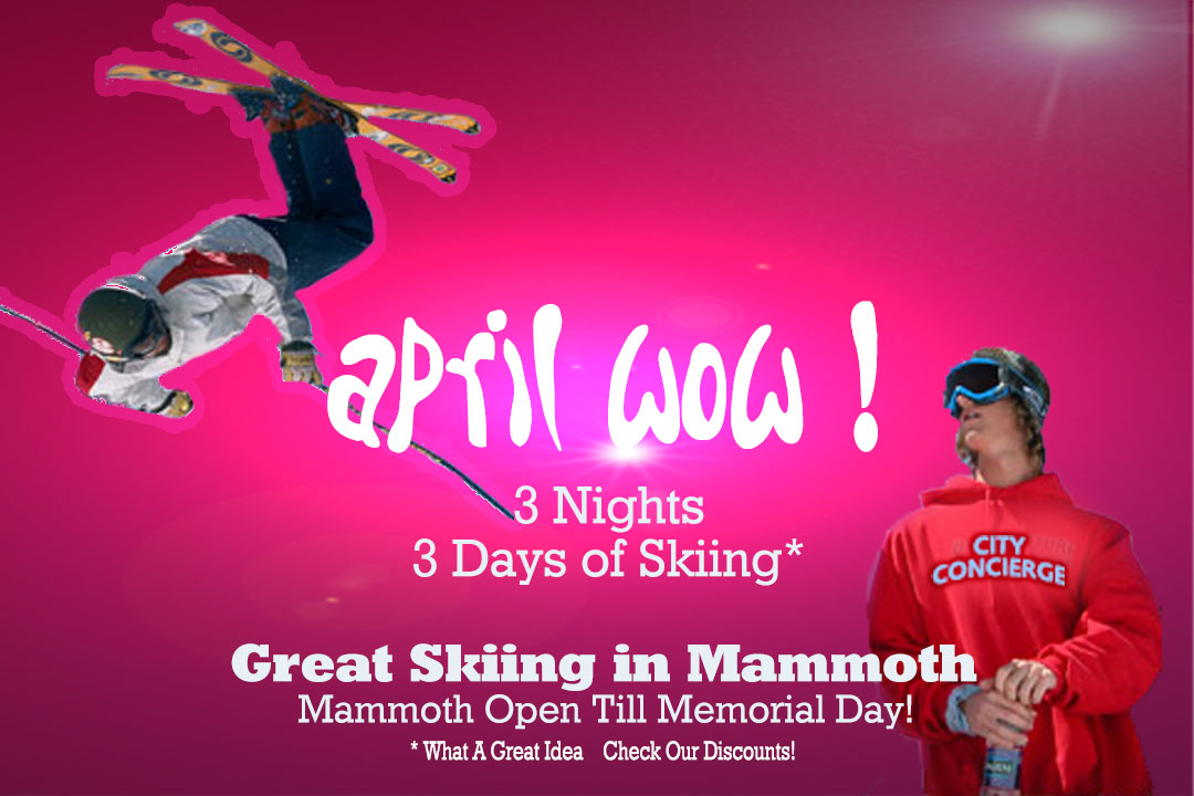 April Specials at Mammoth Mountain