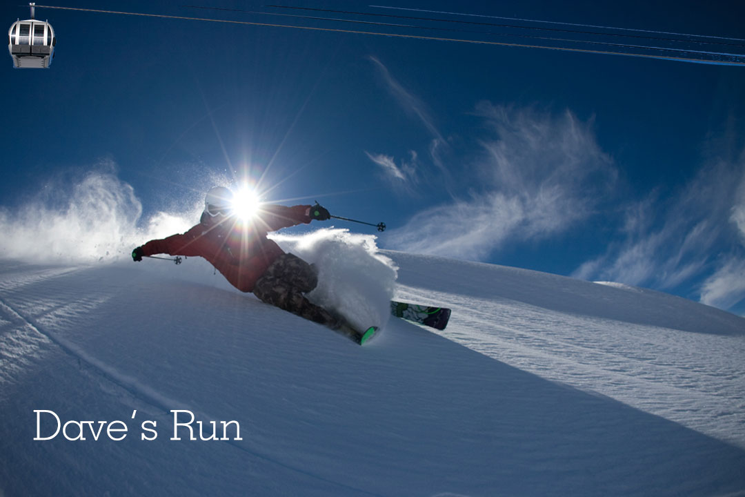 Best Ski Run in Mammoth is Dave's Run