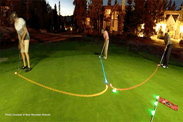 Glow Golf in Big Bear