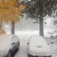 Mammoth Snowfall in September