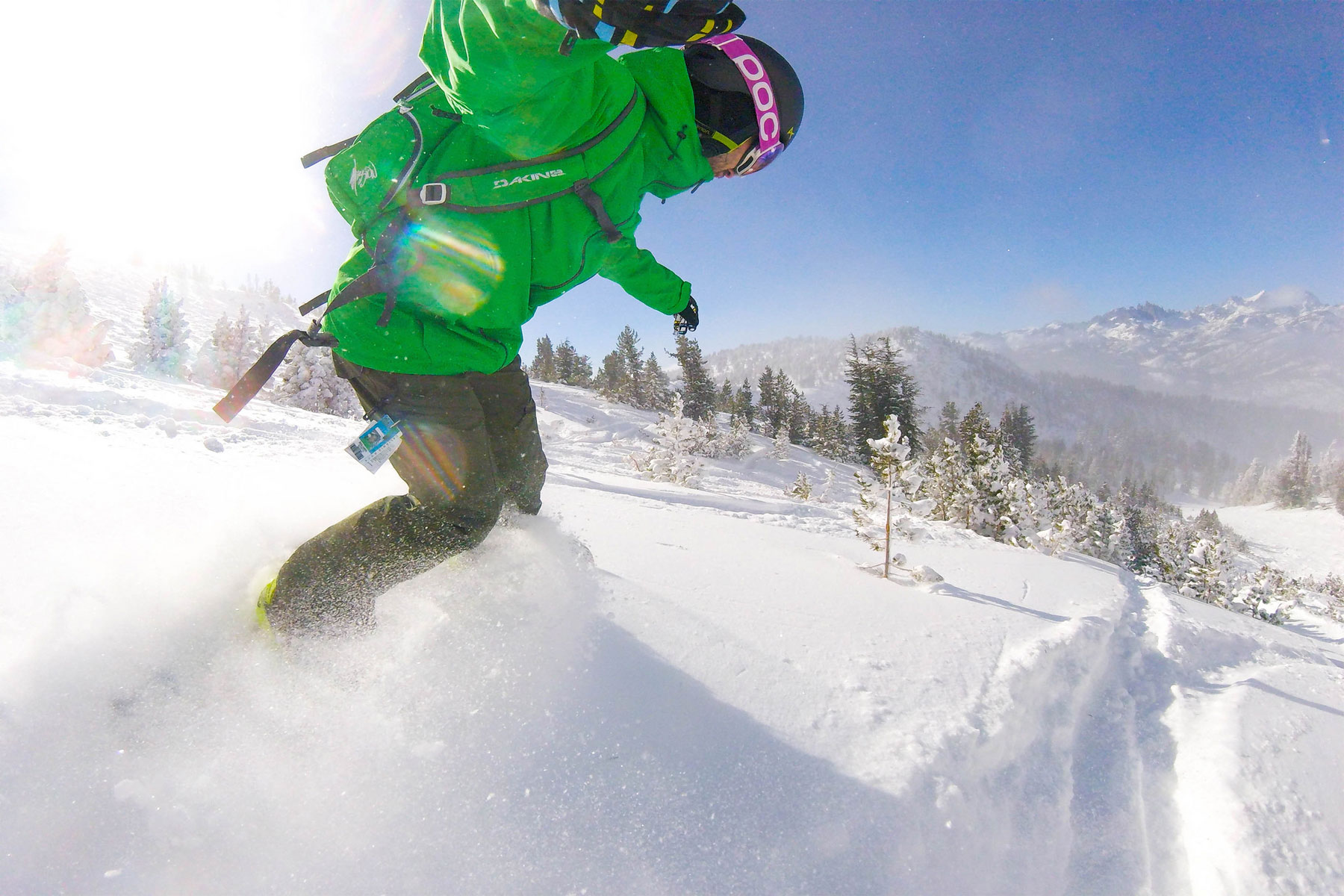 Mammoth Snow Report says it is a powder day