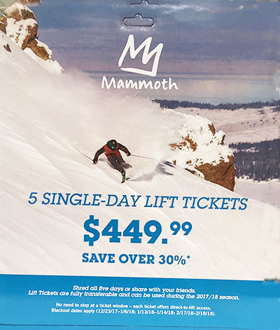 lift tickets mammoth discount mountain costco ski refundable discounted requirements purchase sure never check special before they lakes