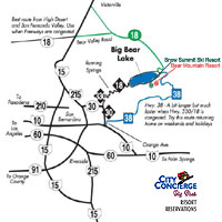 Big Bear Driving Map